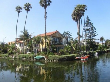 Les canaux de Venice Beach à los angeles en californie en amérique à découvrir lors d'un voyage aux etats-unis en famille