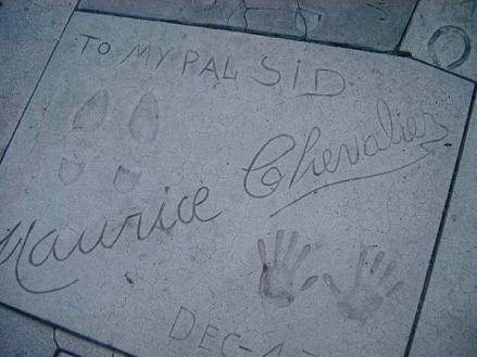 Empreinte de star sur le Hollywood Boulevard à los angeles en californie aux USA à voir lors d'un voyage aux etats-unis en famille
