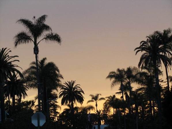 Sunset à san diego en californie aux etats-unis où dormir lors d'un voyage aux usa en famille