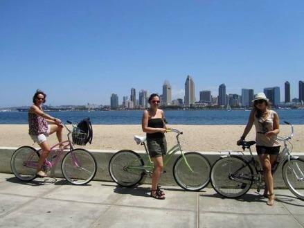 Balade en vélo sur l'ile de Coronado à san diego en californie aux USA à visiter au cours d'un voyage en famille aux etats-uni