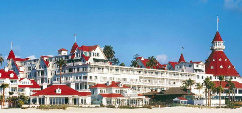 L'Hotel Del Coronado à san diego en californie aux etats-unis où dormir lors d'un voyage aux usa en famille