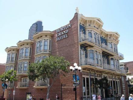 Horton Grand Hotel dans le Gaslamp Quarter à san diego en californie en amérique à voir lors d'un voyage aux etats-Unis en famille