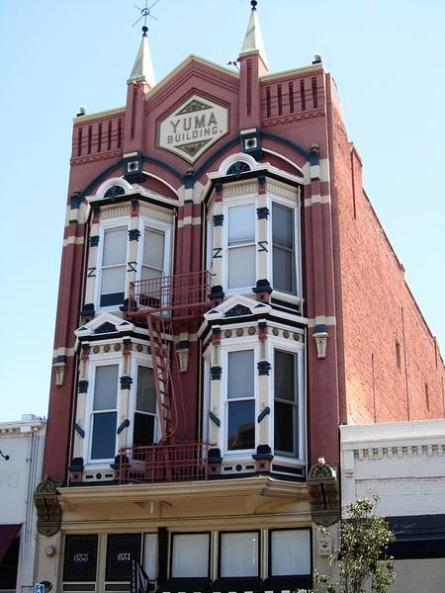 Yuma Building dans le Gaslamp Quarter à san diego en californie en amérique à voir lors d'un voyage aux etats-Unis en famille