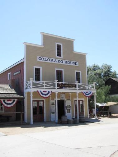 Colorado House a été batie en 1851 San Diego en californie aux Etats-unis à parcourir lors d'un voyage