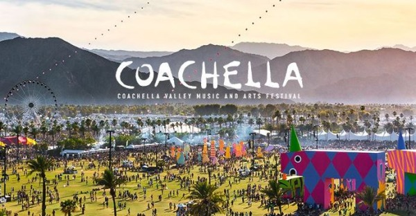 Coachella Festival à palm spring californie aux Etats-Unis lors d'un voyage aux usa en famille en vacances