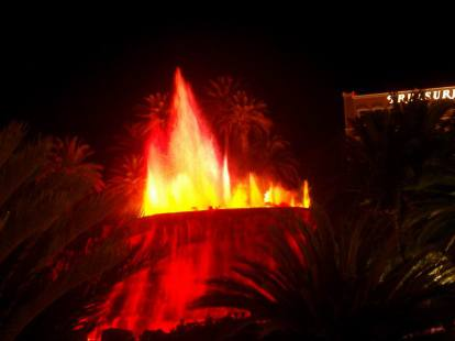 Las Vegas Mirage Volcan