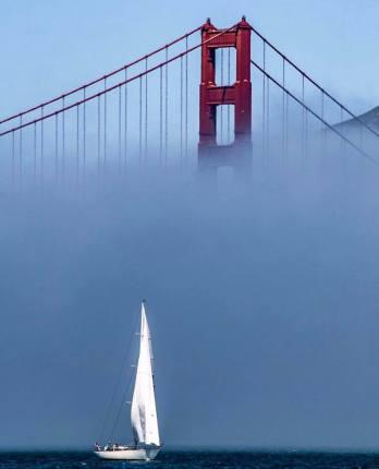 le golden gate à san francisco en californie aux etats-unis à voir lors d'un voyage aux usa en famille