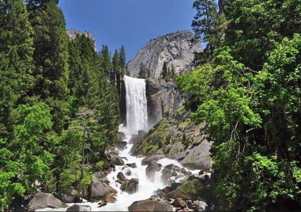 Vernal Fall yosemite national park californie voyage aux usa en famille